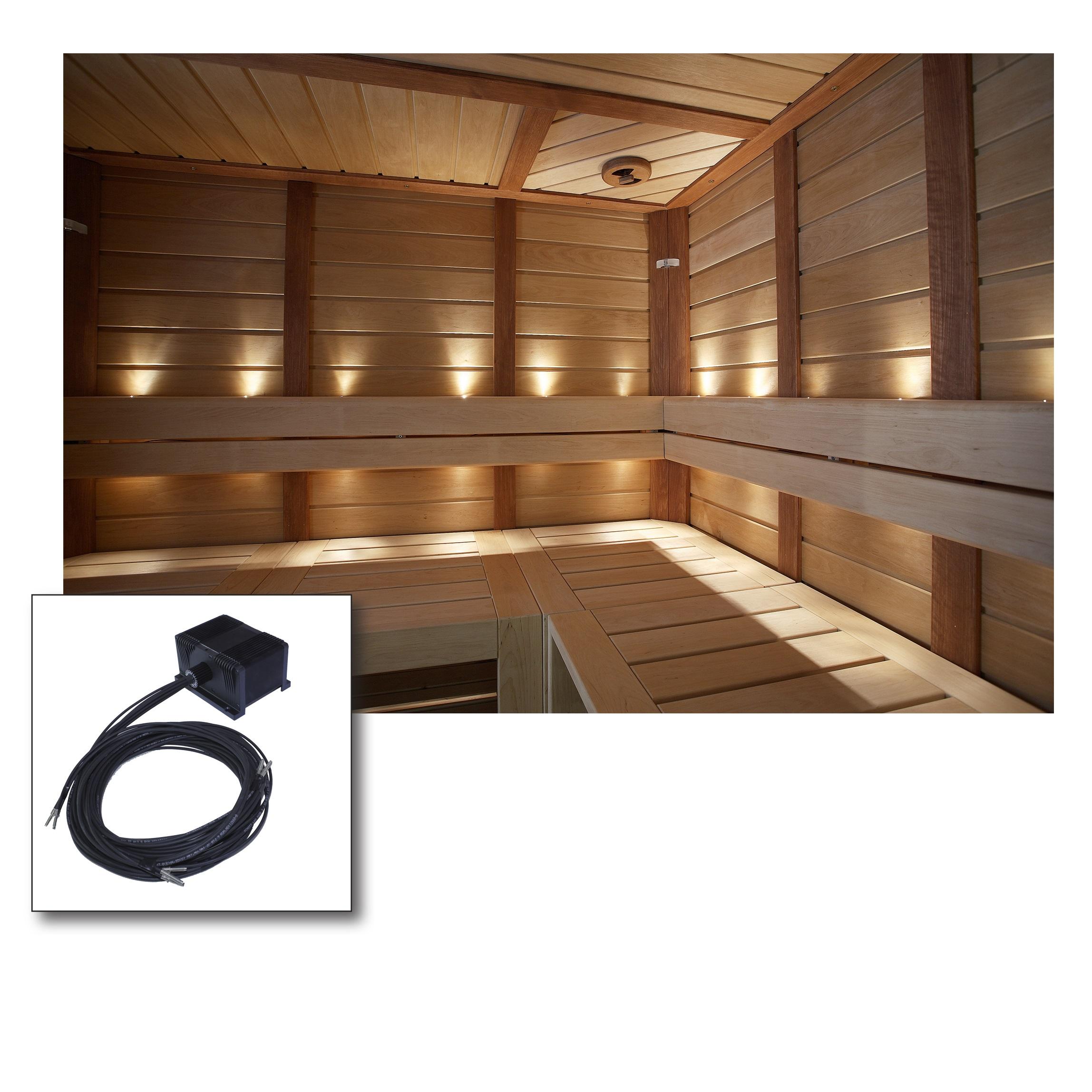 fibra ottica sauna