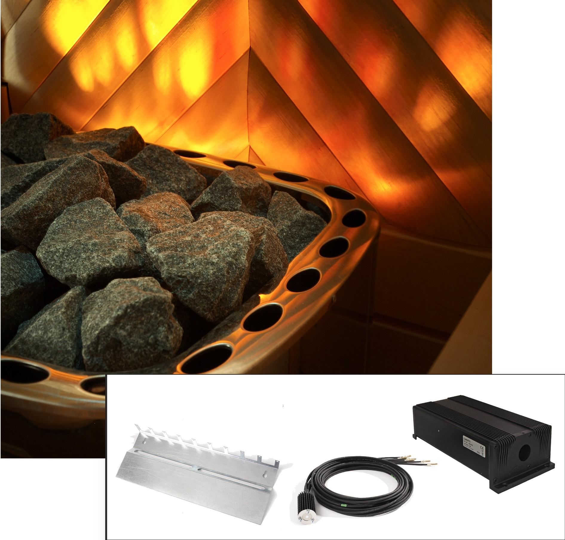 sauna effetto fuoco