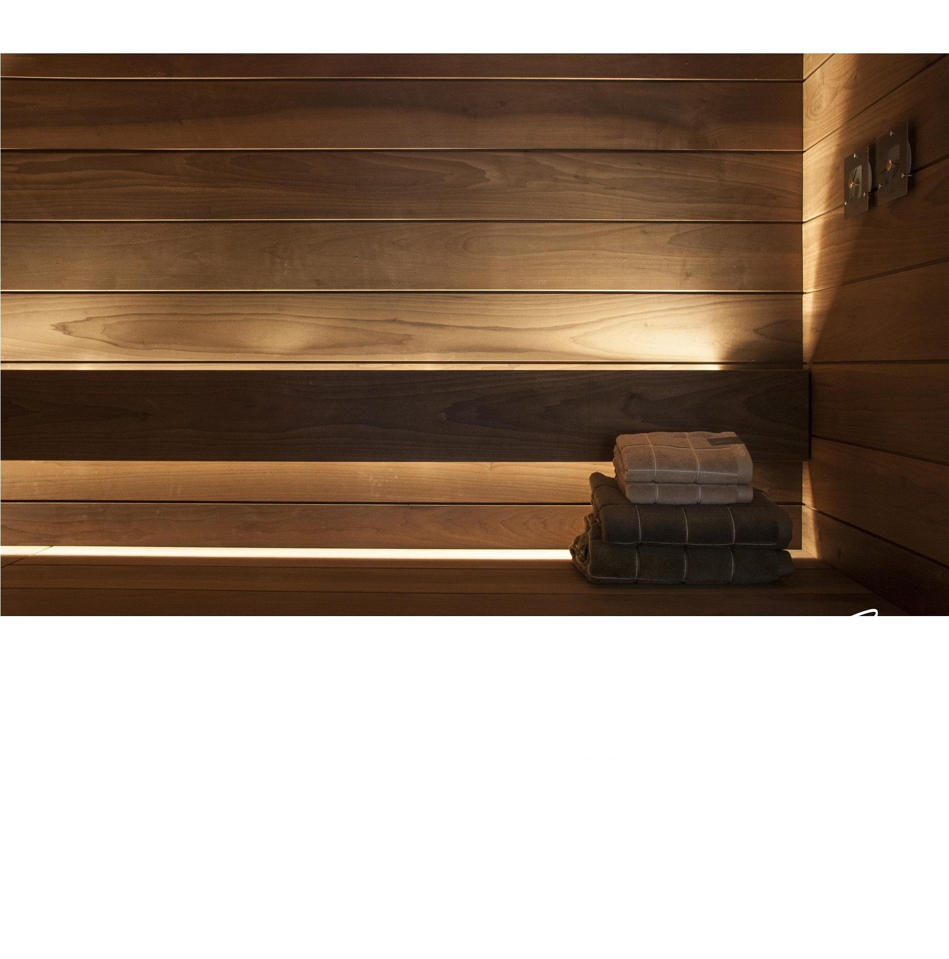 linear led sauna